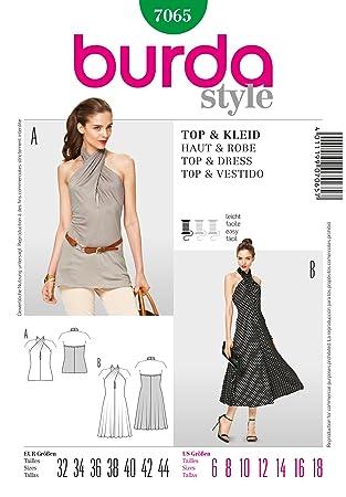 Burda schnittmuster neckholder kleid | Trendige Kleider für die ...
