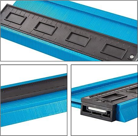 Cadres Circulaires 10in 250mm Atuka Jauge de Contour Plastique Copieur de Contour pour Jauge de Profil pour Conduits en Plastique Tuyaux de Bobinage