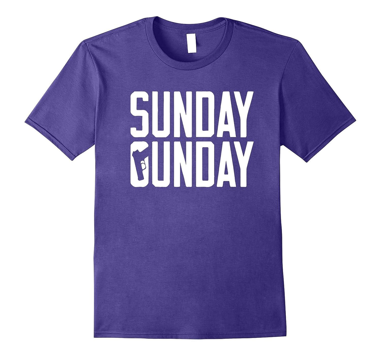 Sunday Gunday Gun Shooting Pistol Firearms T-Shirt-T-Shirt