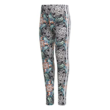 0a0c1a1d7c9c35 adidas Originals Girls' Little Zooanimal Print Leggings, Multi/White, ...