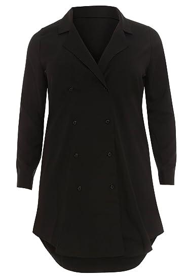 88756feb10 Women's Plus Size Black Tuxedo Shirt Dress (20): Amazon.co.uk: Clothing