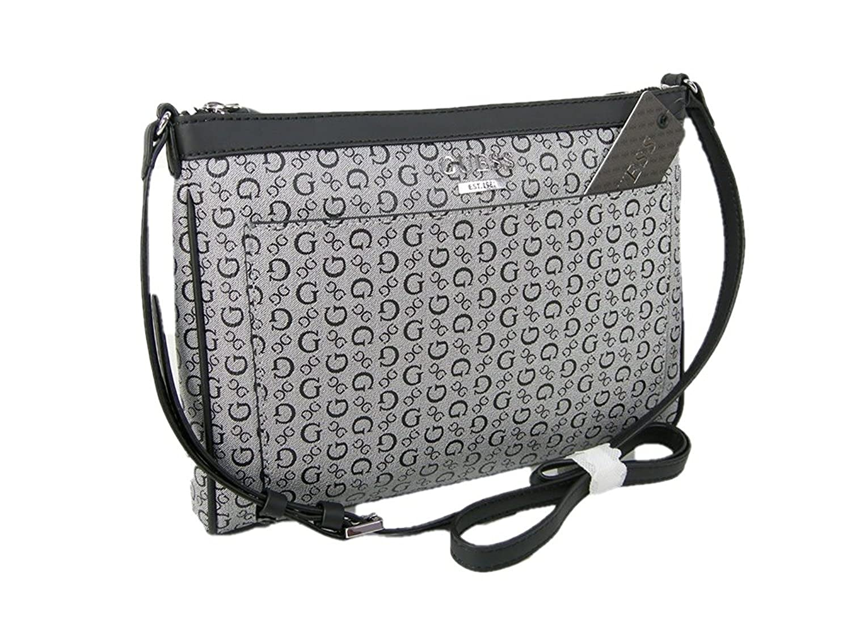 New Guess G Logo Purse Cross Body Shoulder Hand Bag Black Gray No Trouble