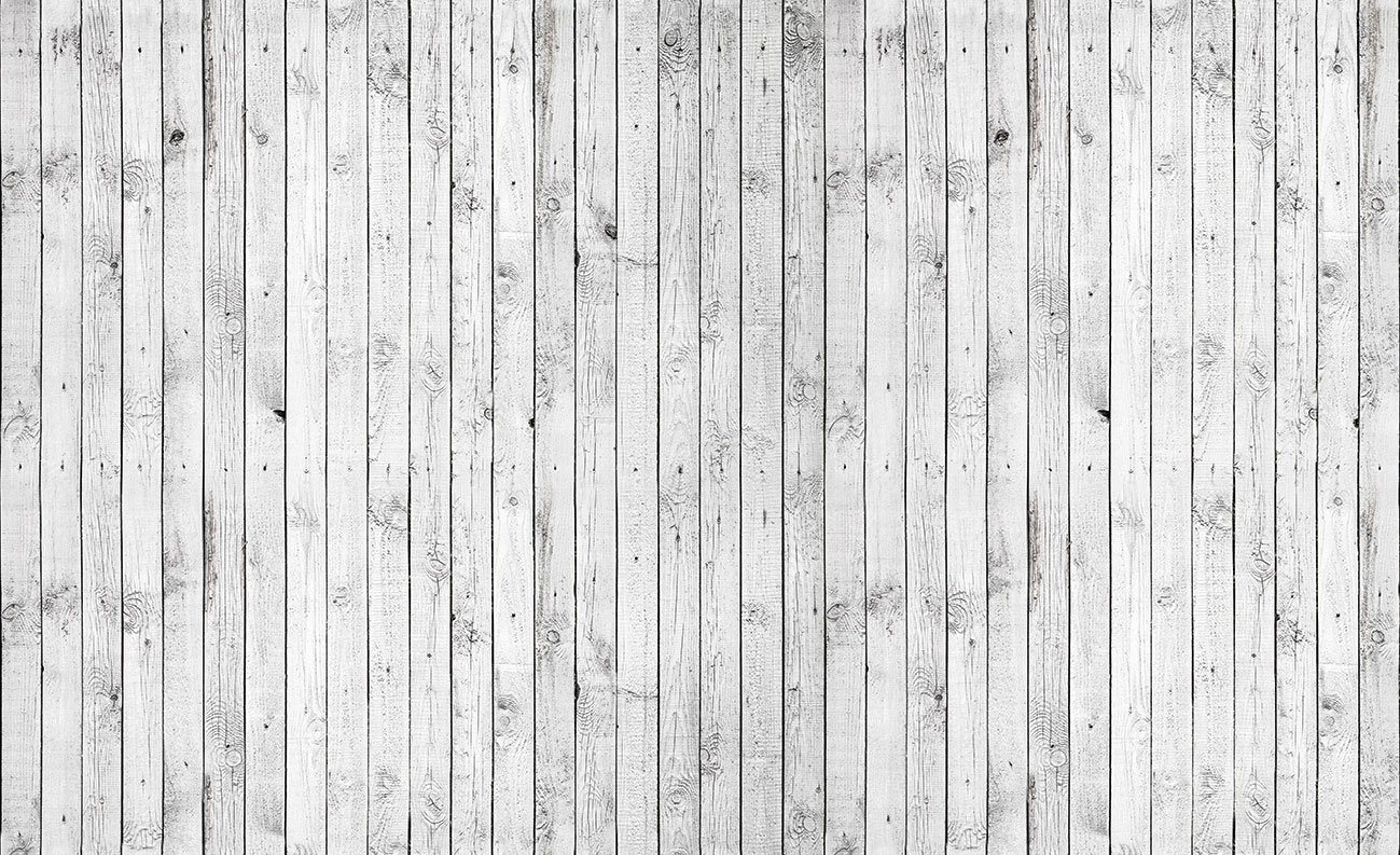 White Wood Planks Texture Wallpaper Mural