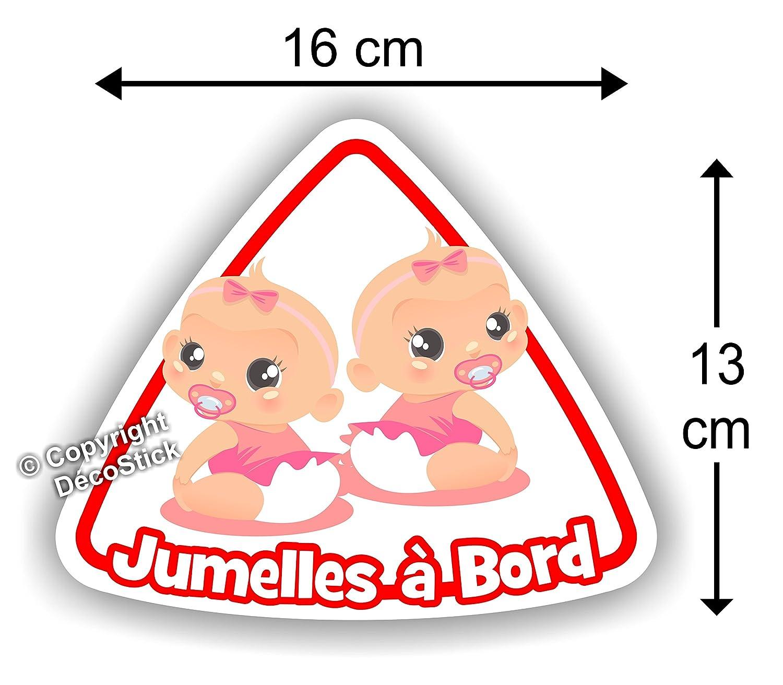 Jumeaux à Bord Sticker Autocollant bébé à bord Modèle 3 Garçon // Fille