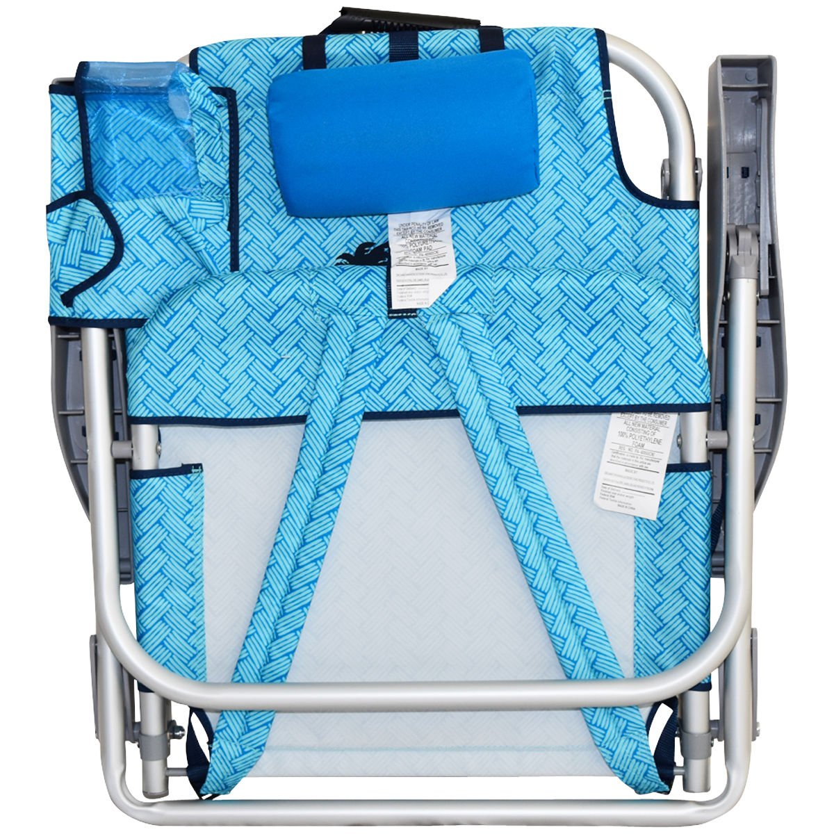 2 Tommy Bahama Backpack Beach Chairs/ Light Blue + 1 Medium Tote Bag by Tommy Bahama (Image #5)