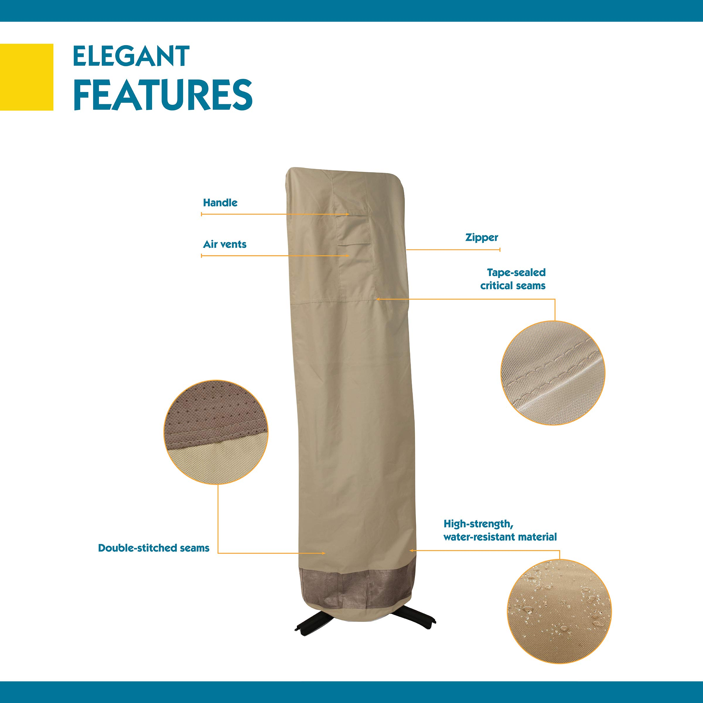 Duck Covers Elegant Offset Patio Umbrella Cover with Installation Pole, 101-Inch by Duck Covers (Image #2)
