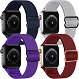 KOUUNN Nylon Sport Loop Band Compatible with Apple Watch Bands 38mm 40mm 42mm 44mm iWatch Series 6 5 SE 4 3 2 1 Bracelet…