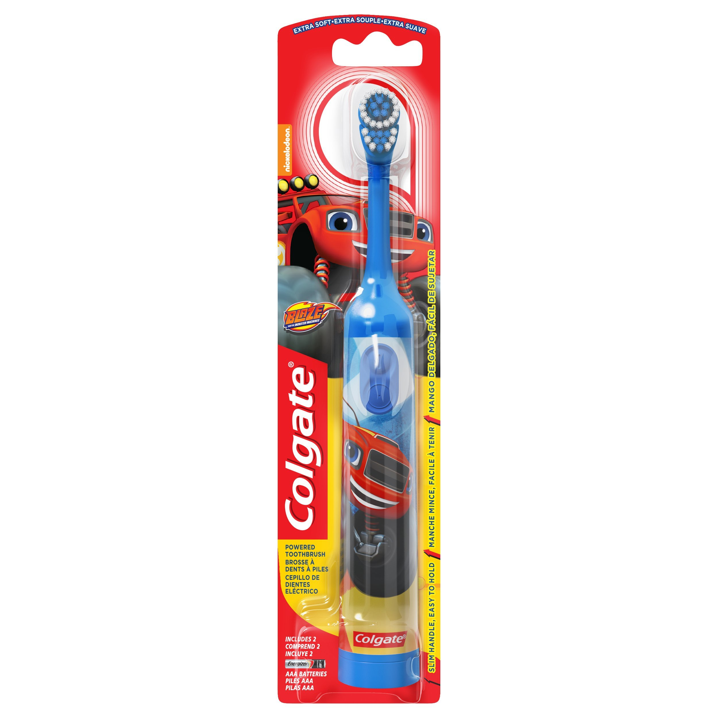 Colgate Kids Powered Toothbrush, Blaze, Extra Soft, Assorted Colors
