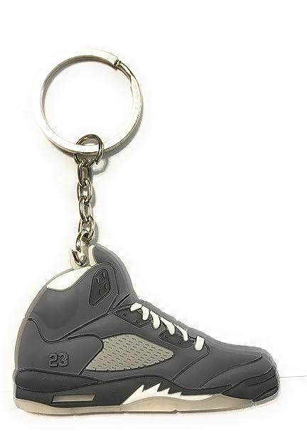 WeTheFounders Zapatos Sneaker Llavero AJ-5 Retro, Gris ...