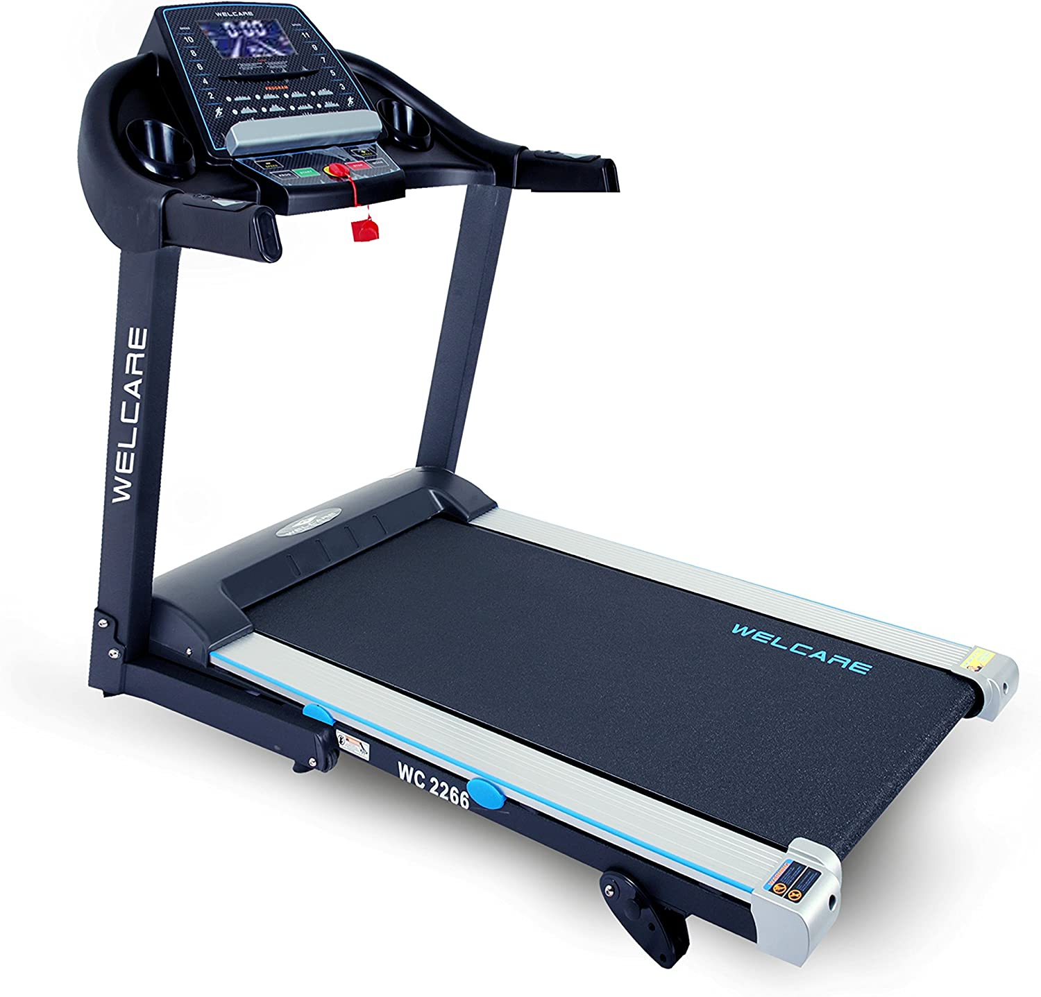 WELCARE WC2266, 4 Hp Peak DC Motorized Folding Treadmill