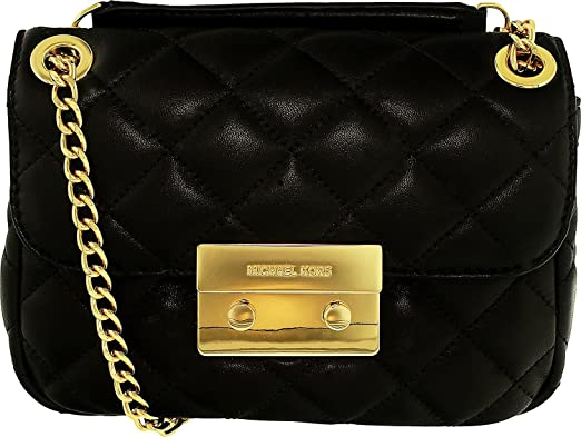 bdc6d307789c0b Michael Kors Sloan Small Chain-Strap Shoulder Bag leather Black ...