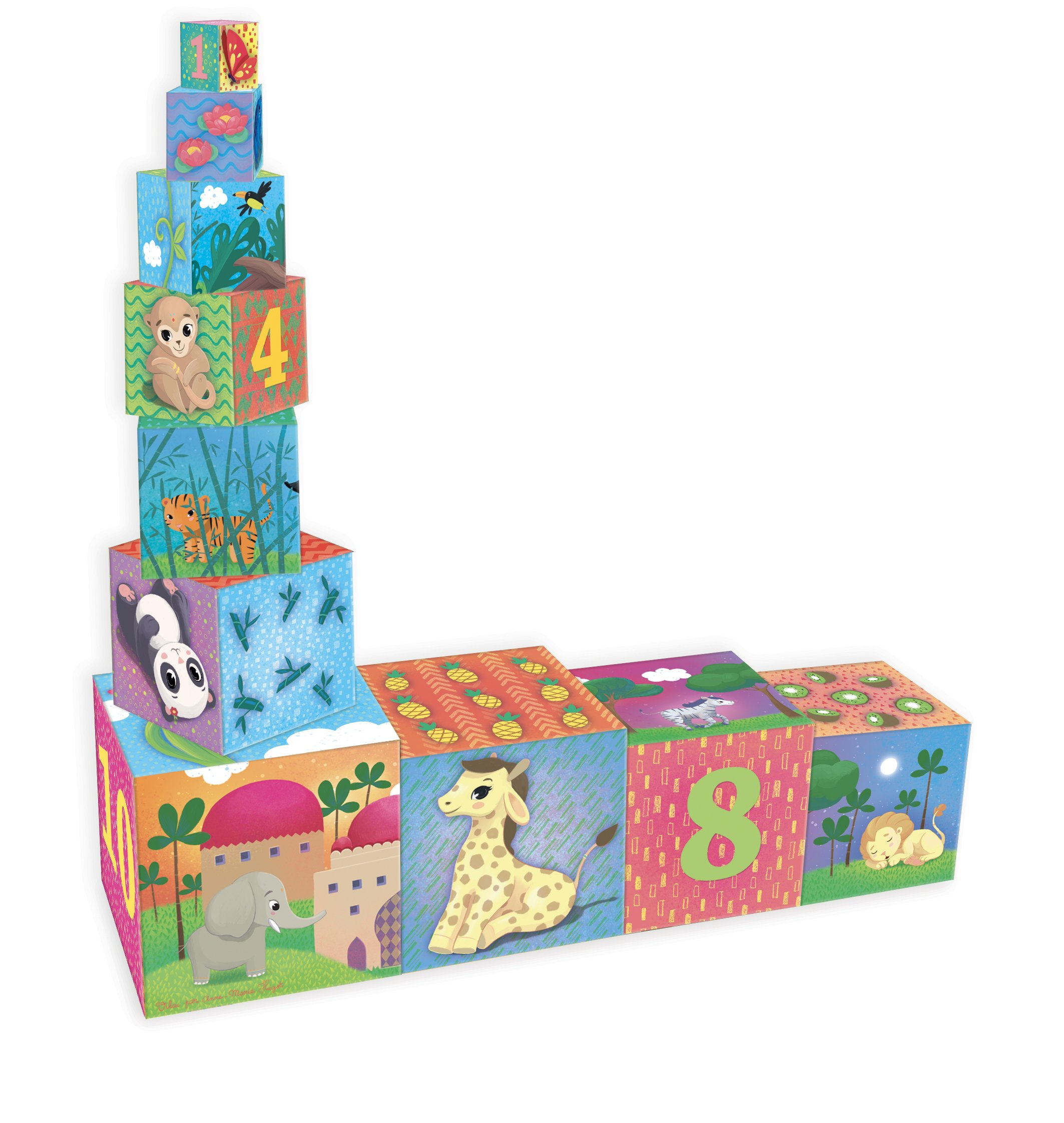 Vilac - 2481 - Cubes Gigognes Animaux Du Monde product image