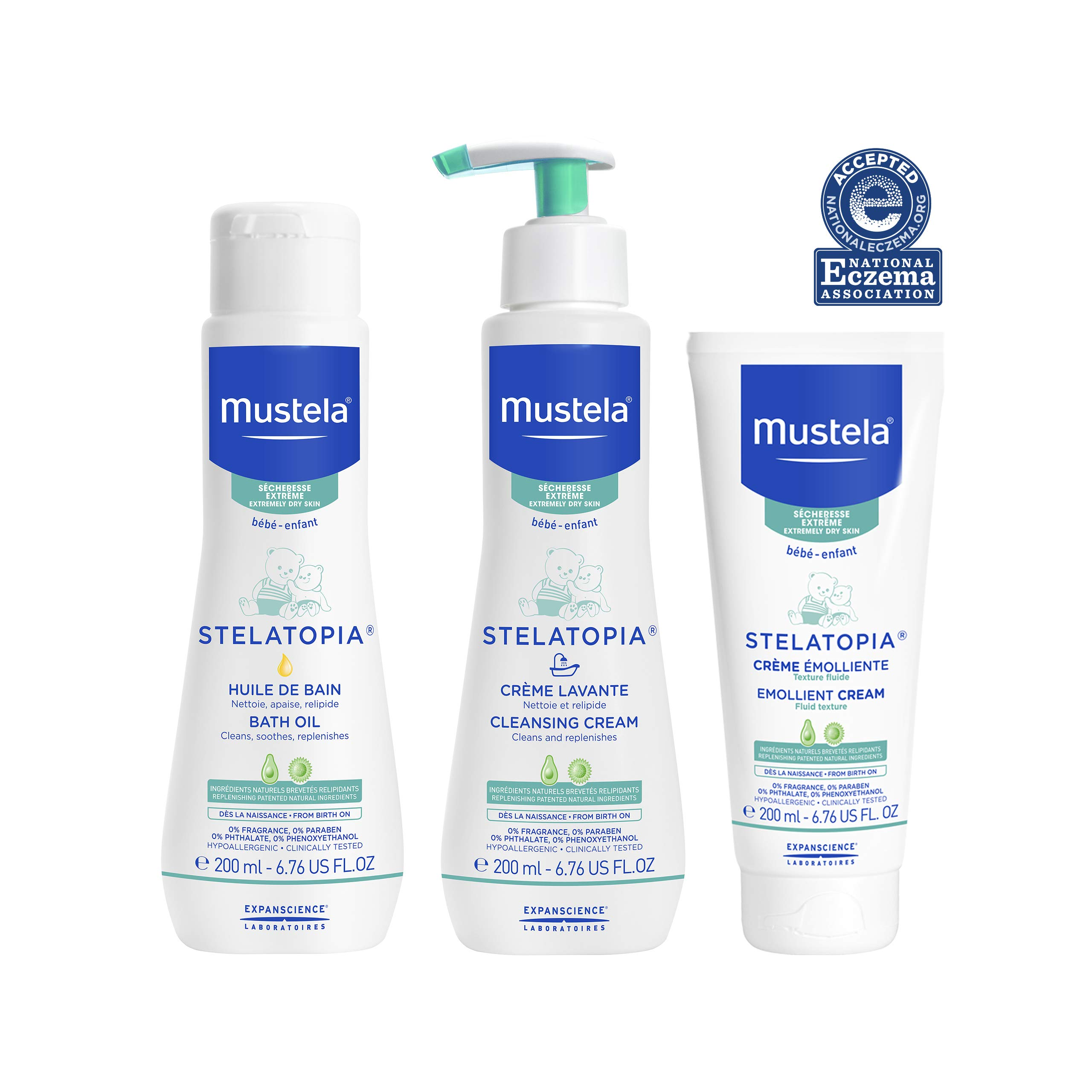 Mustela Bath Time Gift Set, Baby Skin Care, Available for Normal, Dry, Sensitive, and Eczema-Prone Skin by Mustela