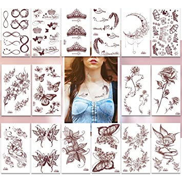 Temporary Tattoos Pack Of 16 Sheets Flash Fake Tattoo Stickers200 Small Body