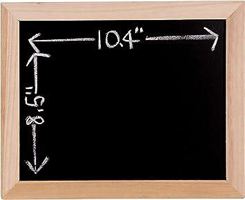 """8.5/""""x10.5/"""" Natural Unfinished Wooden Framed Black Chalkboard DIY Message Board"""