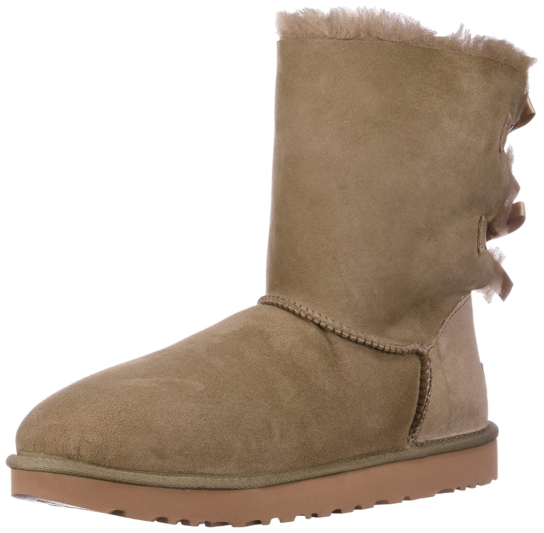 UGG Australia Womens Classic Short Bailey Bow Boots