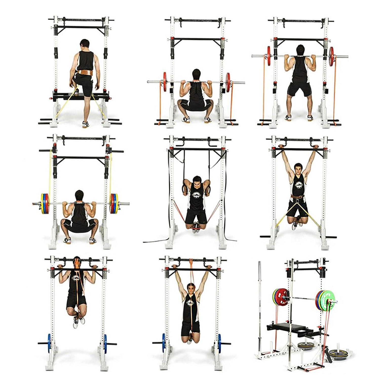 PROIRON Bandas de Fitness Elásticas Resistencia Dominadas para Entrenamiento Fuerza para Crossfit Levantamiento de Pesas Naranja 60-100lb: Amazon.es: ...