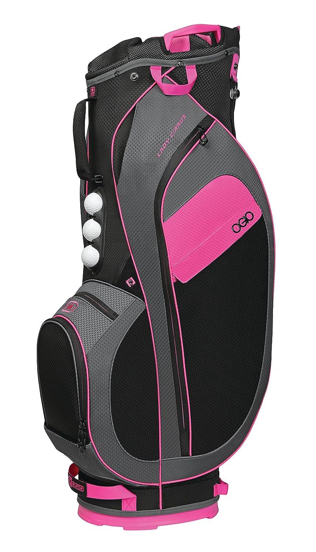 [オジオ] キャディバッグ CIRRUS カートバッグ サイズ:10.5(WIDE) 型/47インチクラブ対応/約2.6Kg/ 機能:グローブアタッチメントブルクロ/フリースバリュアブルポケット/EASY LIFT HANDLE 124065J8  pink B074JDNJ34