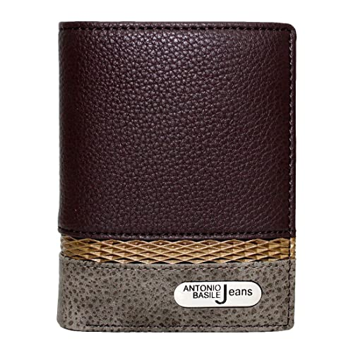 Spirit - Cartera para hombre de Piel Hombre marrón marrón 10x12cm: Amazon.es: Zapatos y complementos