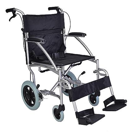 Silla de ruedas ligera con frenos y cinturón de seguridad ECTR08
