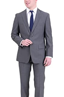 d79e1c97f Hugo Boss Paolini1/movio1 Classic Fit Gray Plaid Two Button Wool Suit
