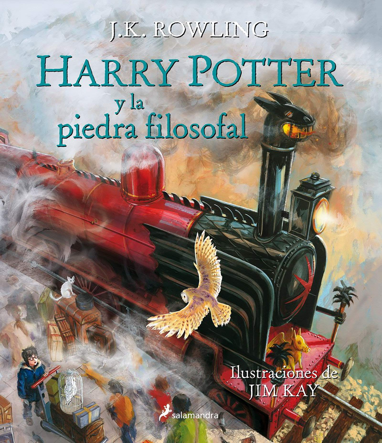 Harry Potter Y La Piedra Filosofal Edición Ilustrada Harry Potter And The Sorcerer S Stone The Illustrated Edition Spanish Edition Rowling J K Kay Jim 9788498387094 Books