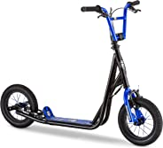 Mongoose Expo Scooter, Featuring Front and Rear Caliper Brakes and Rear Axle Pegs with 12-Inch Inflatable Wheels, Available i