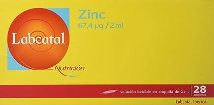 Labcatal Nutrición, Zinc, 28 Amp/ 2ml