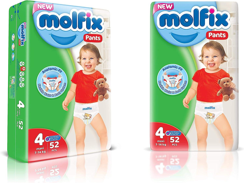 Molfix 3D Nappies 156 units Jumbo Pack Size : 4 // Maxi 7-14 kg