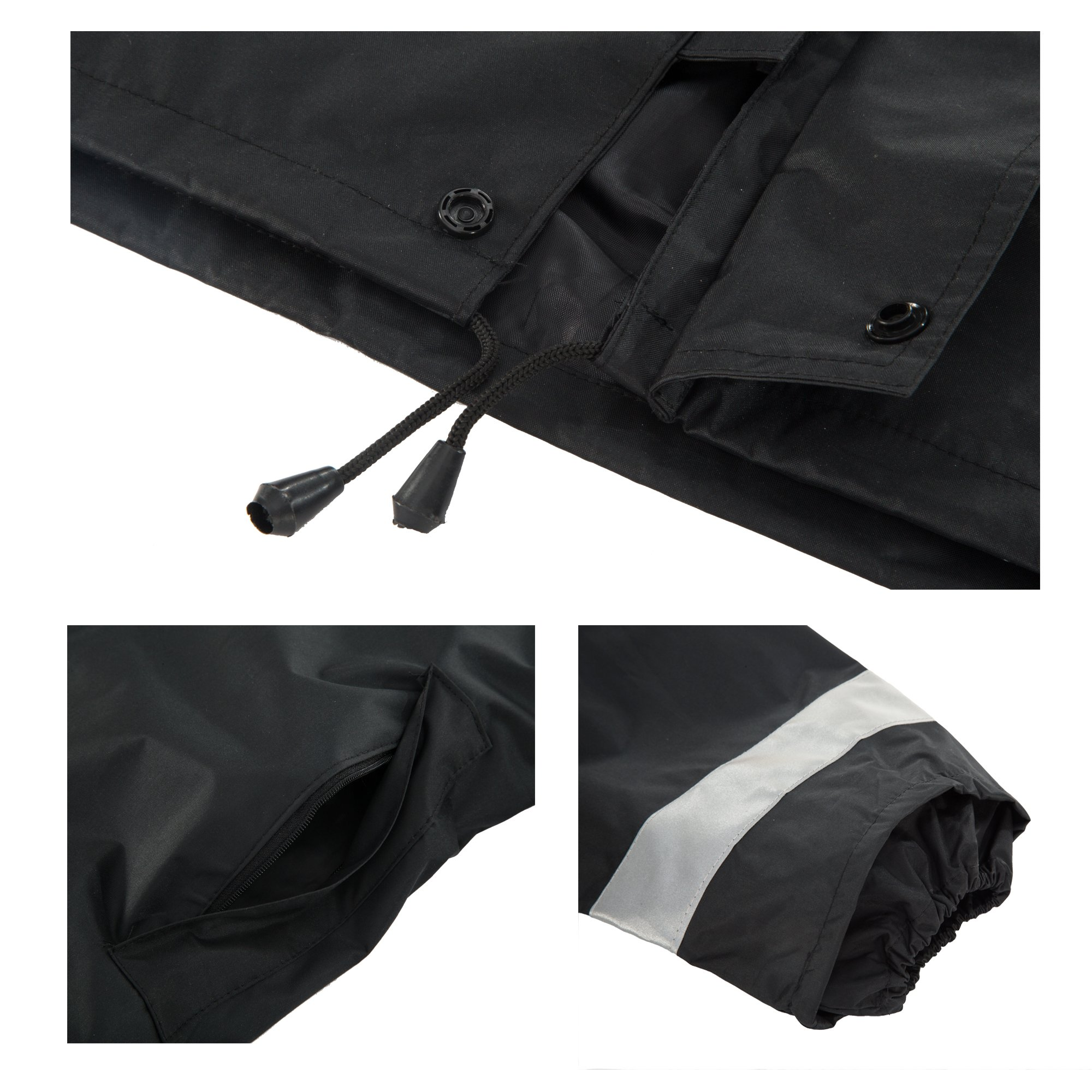 Maiyu Motorcycle Rain Suit Waterproof Rain Jacket and Pants Set 2 Piece Rain Gear For Adult by Maiyu (Image #1)