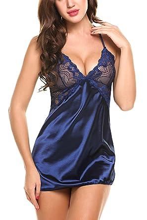 7b2c1e480c79 Avidlove Mujer Lencería Sexy Pijamas Camisones Encaje Babydoll con Cordón
