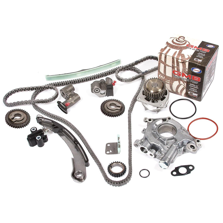 Evergreen Tk3034wop Timing Chain Kit Oil Pump And Gmb Chevrolet Spark Water Fits 04 09 Nissan Altima Maxima Quest 35l Vq35de Automotive