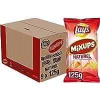 Lay's Mixups Naturel Chips, Doos 9 stuks x 125 g