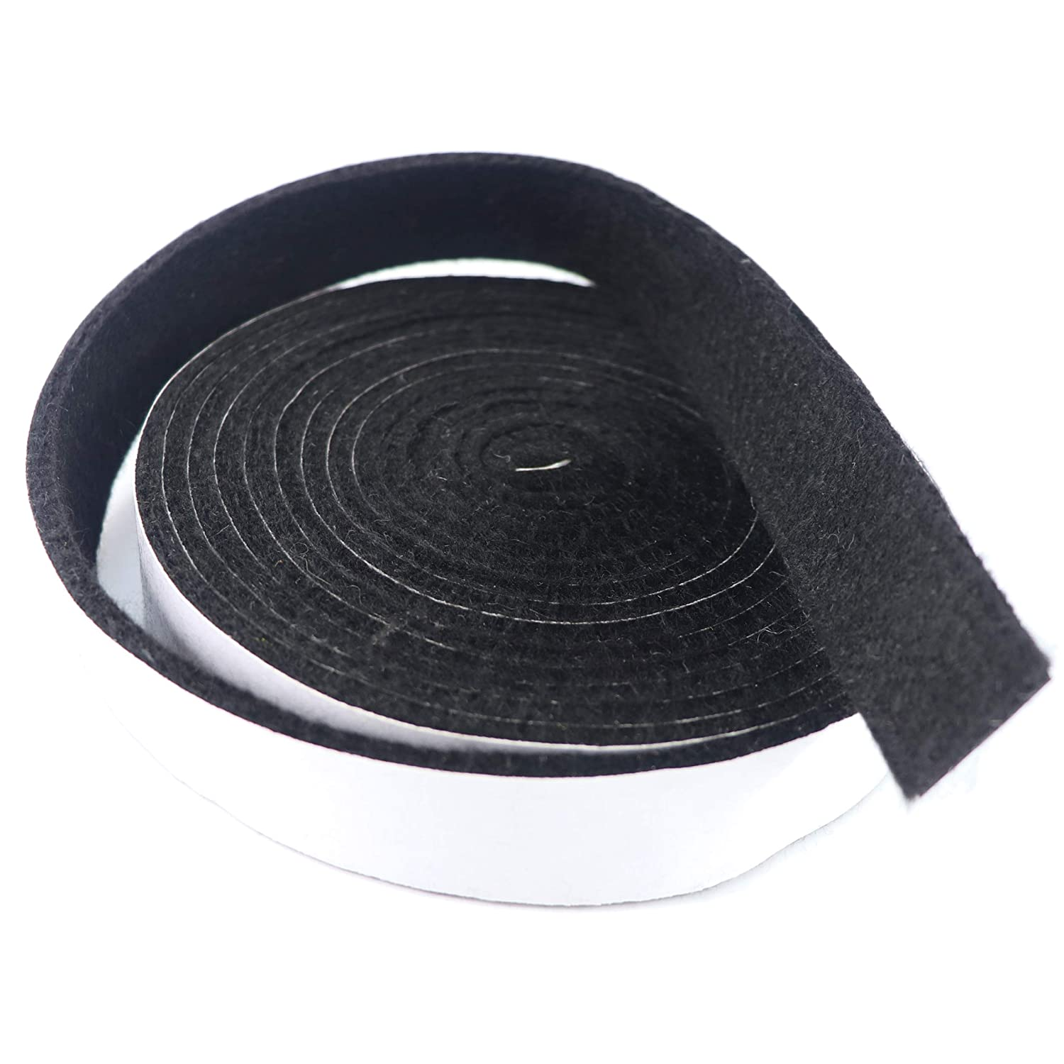 LANUCN BBQ Smoke Seal Strip/Self Stick Leak Proof Smoker Gasket/Oven Door Seal Hopper Lid Sealing Strip/Smoke Keeping Strip/Heat Resistant Grill Gasket (8.2ft, 1/2'', 1/8'', 2 Pack) (Black) 1/2'' 1/8''