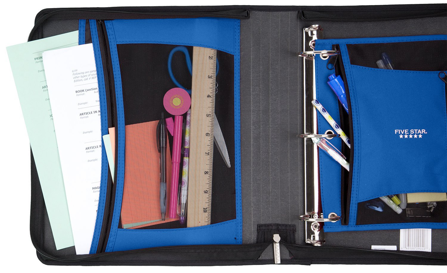 Five Star 2 Inch Zipper Binder, Ring Binder, Xpanz, Assorted Colors (29040) by Five Star (Image #7)