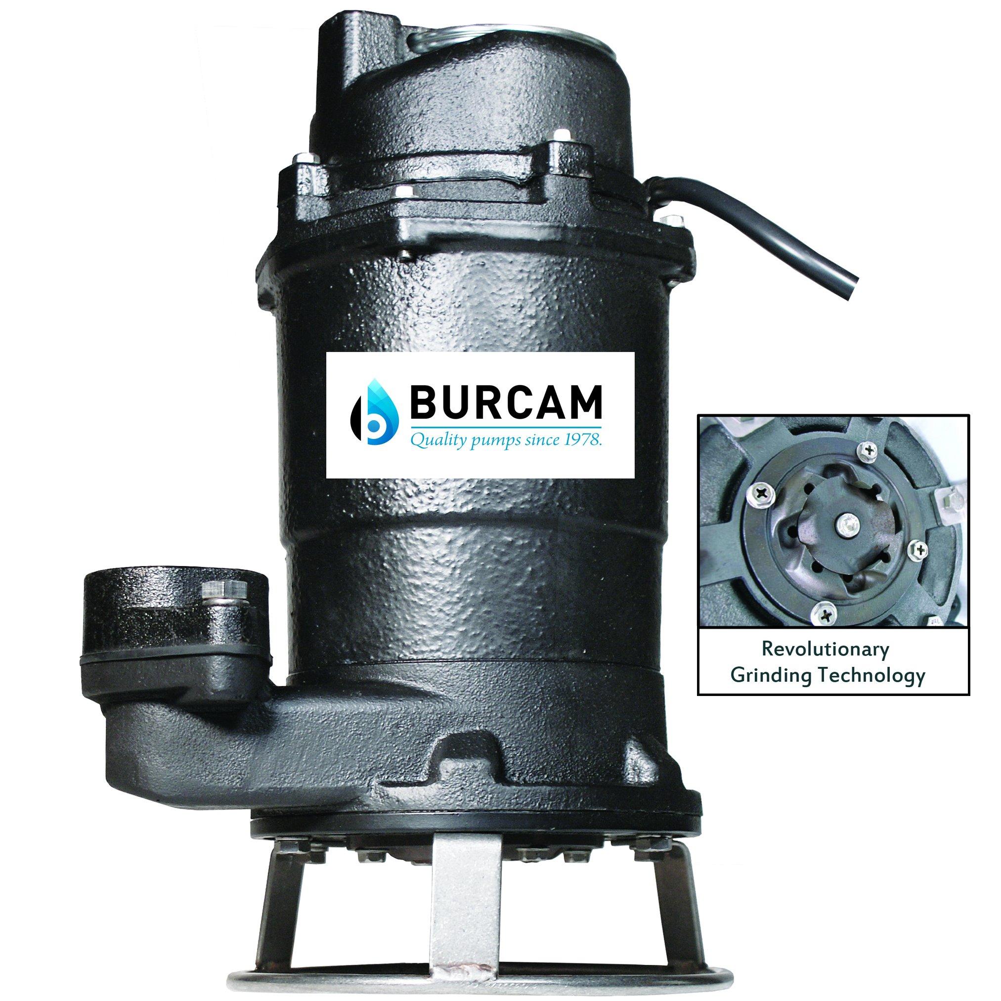 BURCAM 400700P 3/4Hp Sewage Grinder Pump