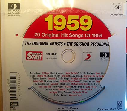 Compilation - 1959 BIRTHDAY GIFT SET - 1959 Chart Hits