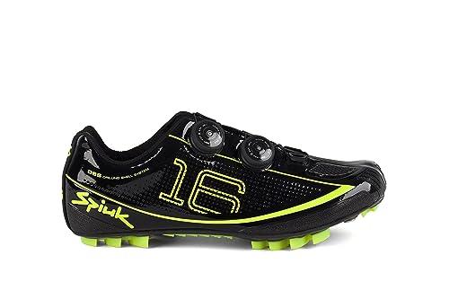 Spiuk Risko MTB - Zapatillas unisex, color amarillo/negro, talla 40