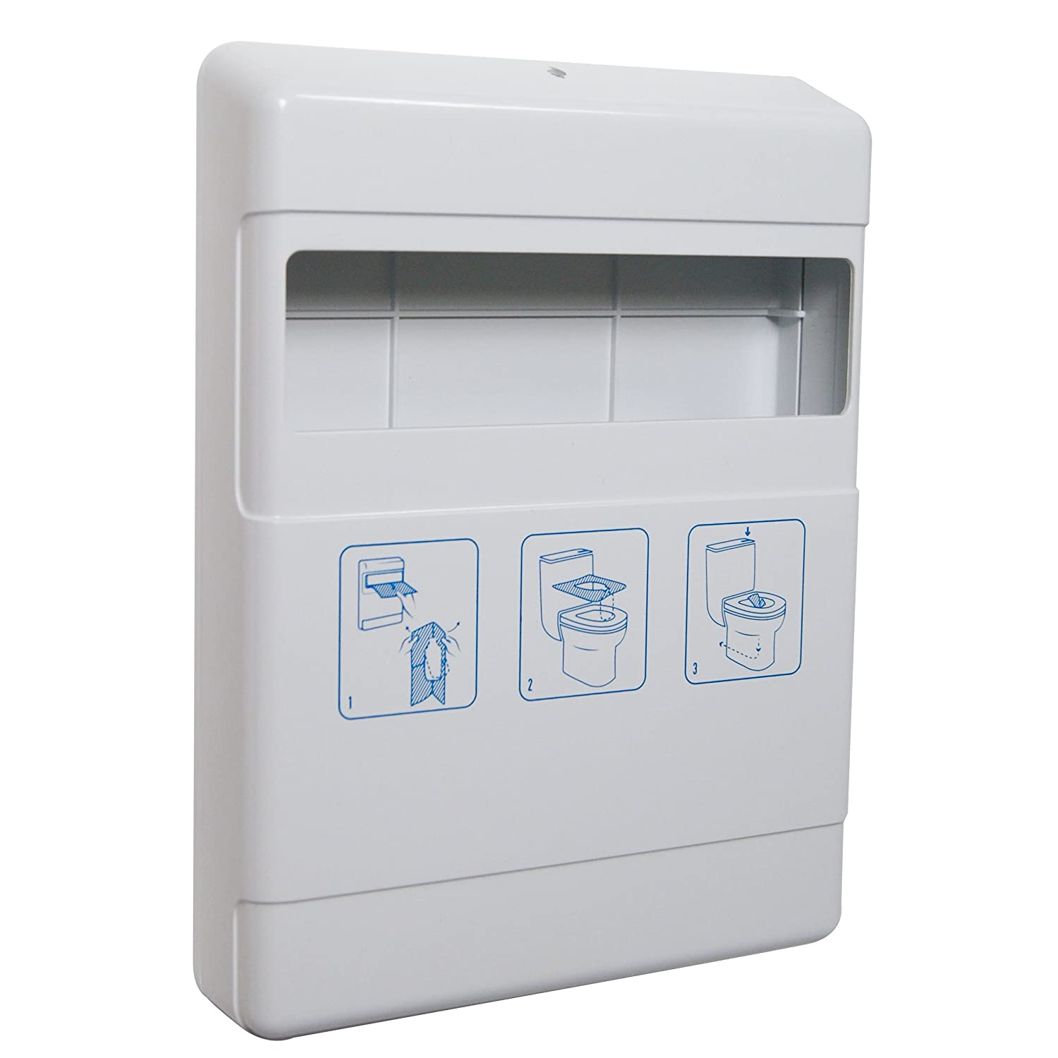 Washroom Hub Wall Mounted Toilet Seat Cover Dispenser White