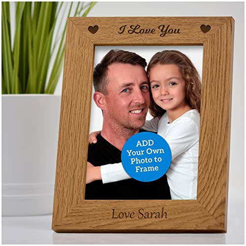 I Love You Engraved Photo Frame Personalised Fathers Day Gifts 1st