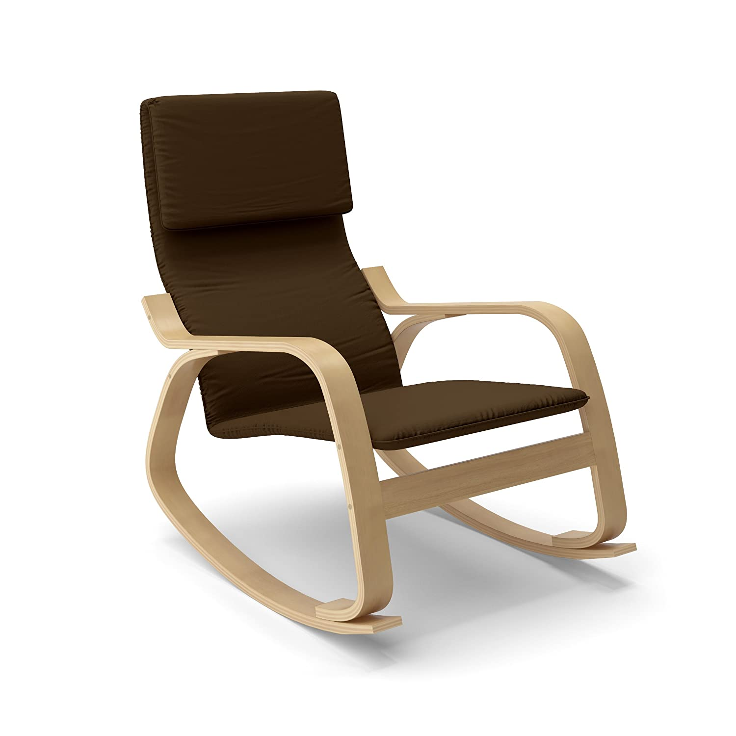 CorLiving LAQ 635 C Aquios Bentwood Contemporary Rocking Chair in