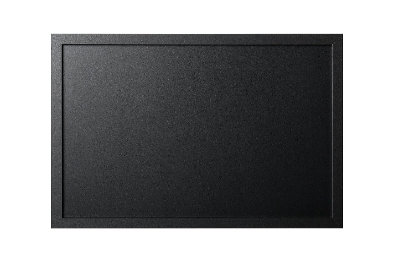 Bi-Office Back2Chalk Essentials - Pizarra de tiza, marco MDF, Negro, 60 x 40 cm