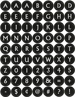 Sandylion SB4X12CL Alphabet Typewriter Cle Black 4x12 Tall Sticker