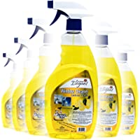Elegant Window Cleaner Spray 750 ML Pack of 6 - Window/Glass Cleaner (Lemon Punch)