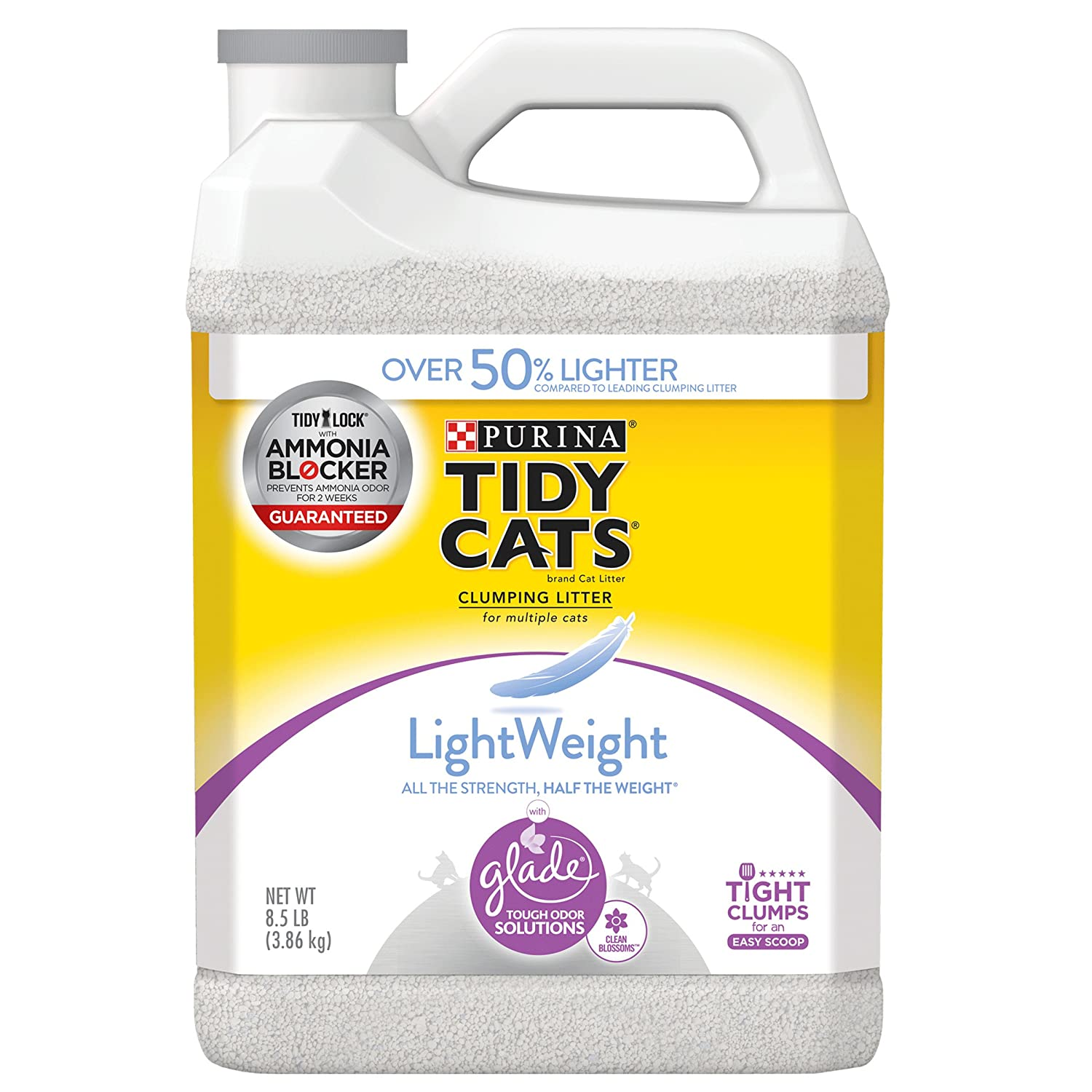 (2) 8.5 lb. Jugs Purina Tidy Cats Lightweight Glade Tough Odor Solutions Clumping Cat Litter