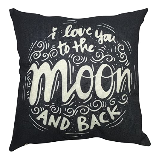 Arundeal I Love You To The Moon And Back 18 x 18 pulgadas ...
