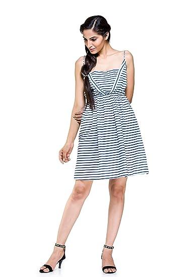379693dc0cd ... Sexy Dress Sleeveless Evening Party Cocktail Short Sleepwear Blue  Stripe Print Cotton Mini Dress nightwear Nighty short sexy dress Night  Party wear For ...