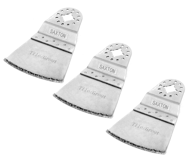 SH65DB 3x 65mm Saxton Diamond End Cut Blades for Fein Multimaster Bosch Makita Oscillating Multitool