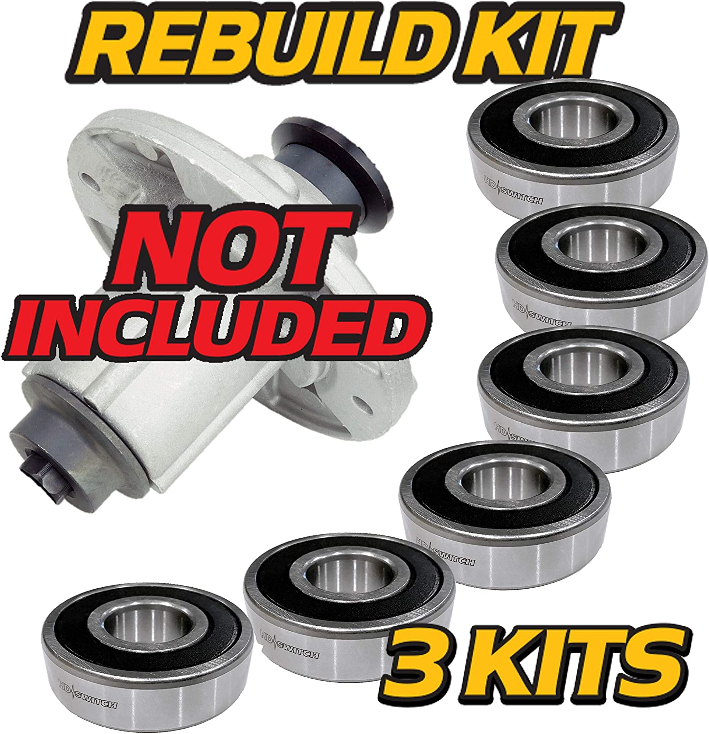 belt diagram d110 amazon com hd switch  6 pack  spindle rebuild bearings replaces  spindle rebuild bearings replaces