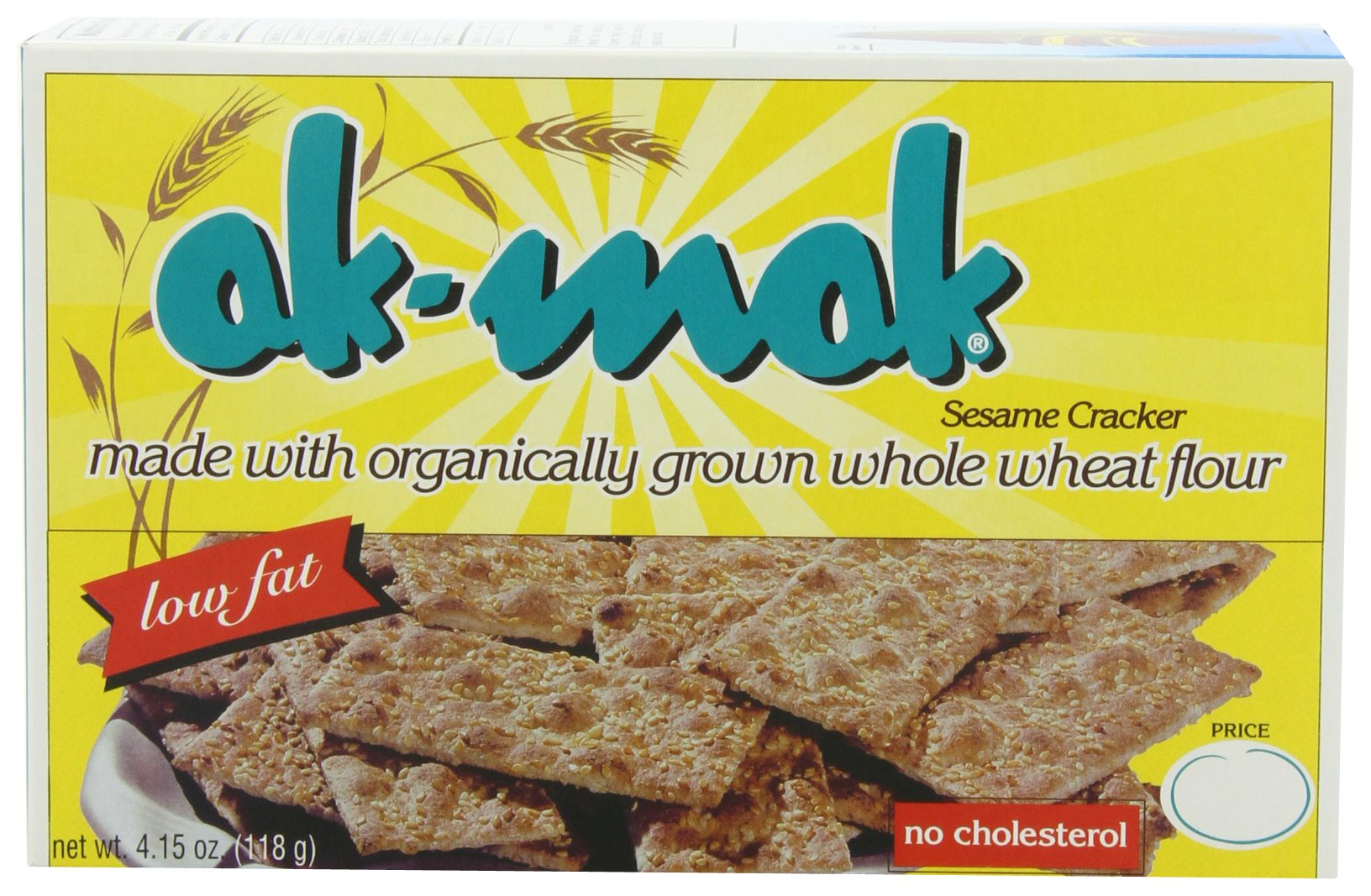 Ak-Mak Sesame Crackers, 4.15 Ounce (Pack of 12) by Akmak